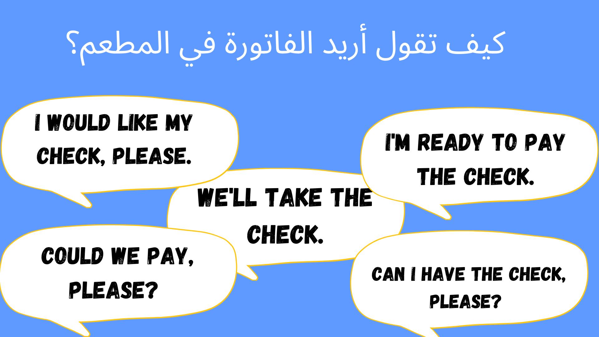 محادثة في مطعم بالانجليزي ومحادثة حجز مطعم في الانجليزي