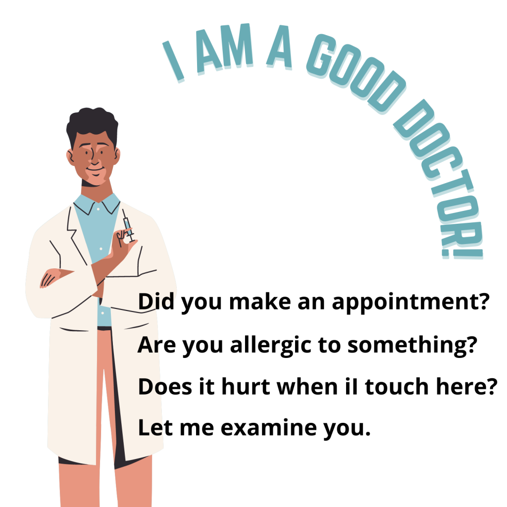محادثة مع طبيب بالانجليزي