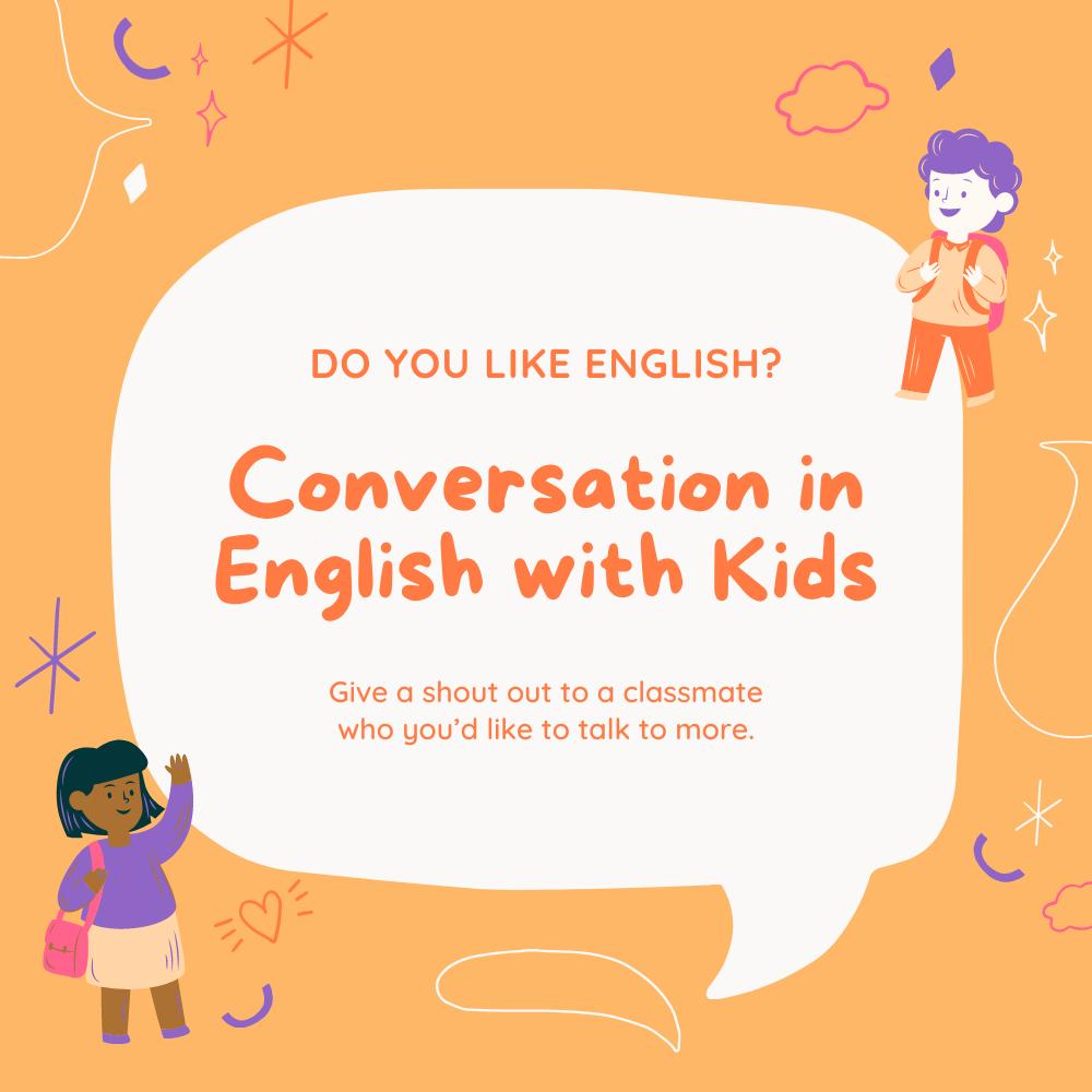 محادثات انجليزية مكتوبة للاطفال