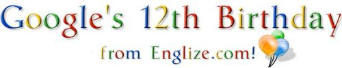 Google's 12th Birthday from Englize.com - عيد ميلاد جوجل الثاني عشر