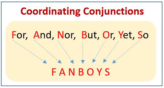 حروف العطف التنسيقية Coordinating Conjunctions