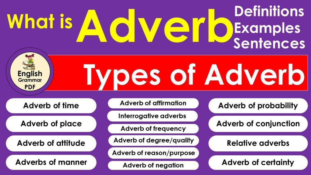 معنى adverb